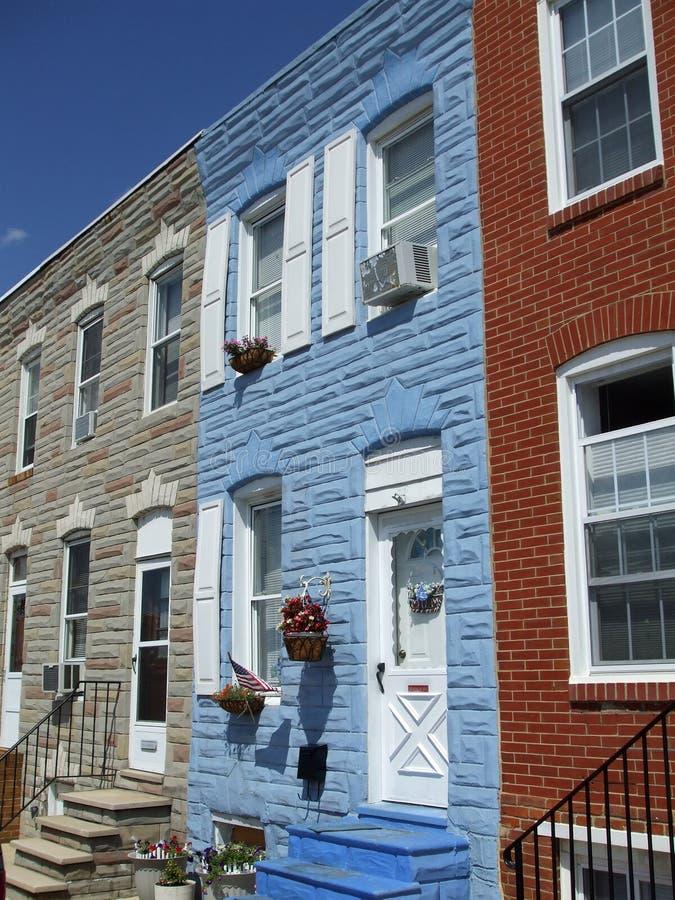 Colorful Baltimore Town Houses stock photos