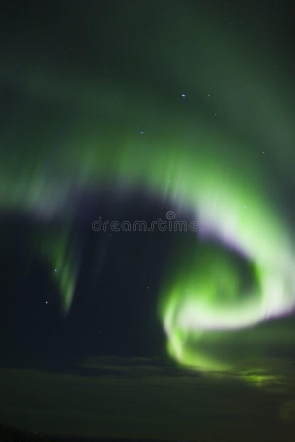 Colorful band of aurora borealis royalty free stock photo
