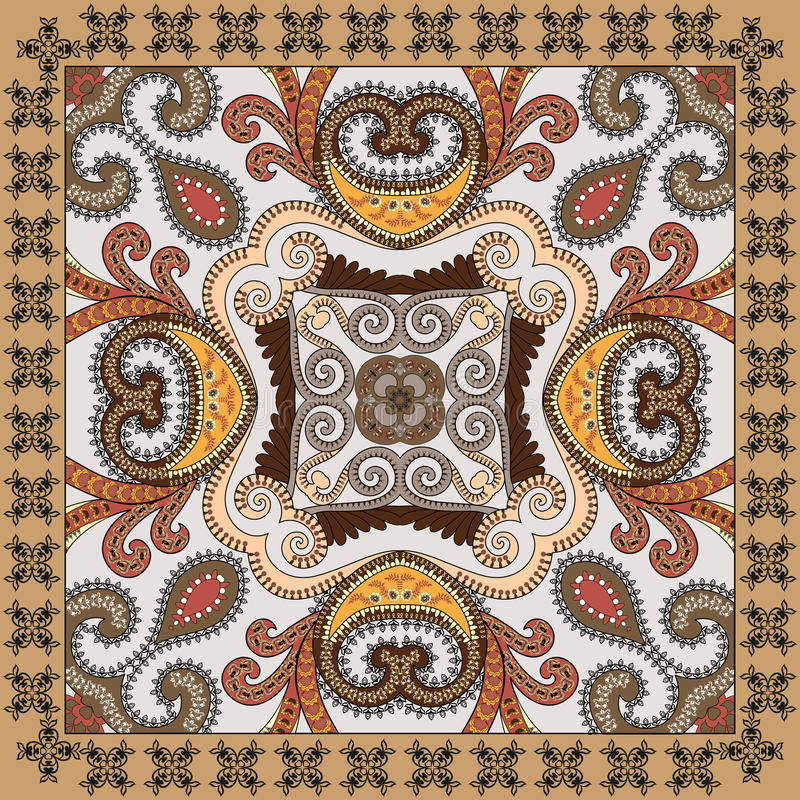 Free Colorful Bandanna, Decorated Paisley And Swirls With Black Fest Stock Images - 59199514