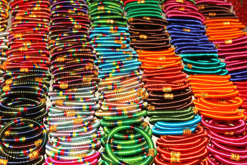 Colorful Bangles Royalty Free Stock Images