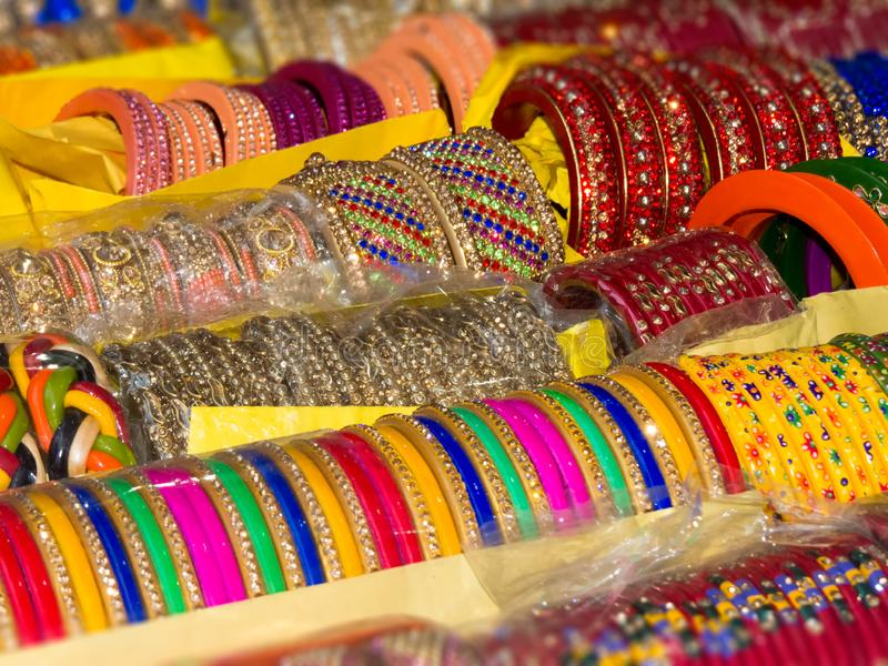 Colorful bangles background, texture royalty free stock photo