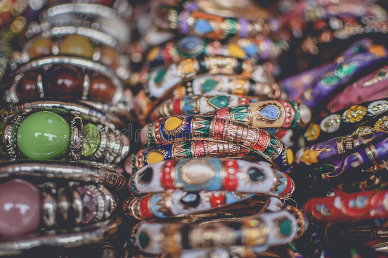 Colorful Bangles royalty free stock photography