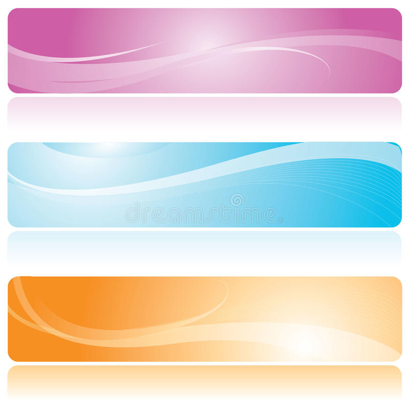 Download Colorful banner stock vector. Image of futuristic, curls - 14859091