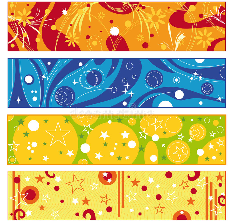 Colorful banner collection royalty free illustration