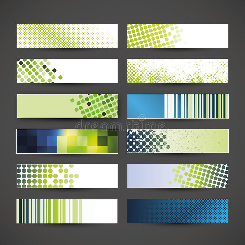 12 Colorful Banner Designs vector illustration