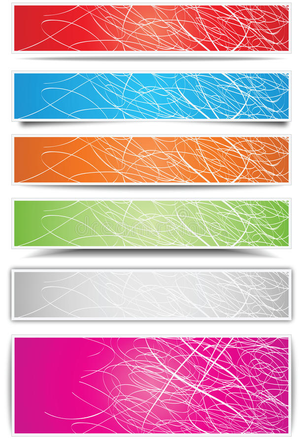 Download Colorful banners stock vector. Image of illustration - 24846850