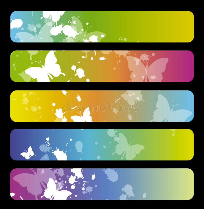 Colorful banners royalty free illustration