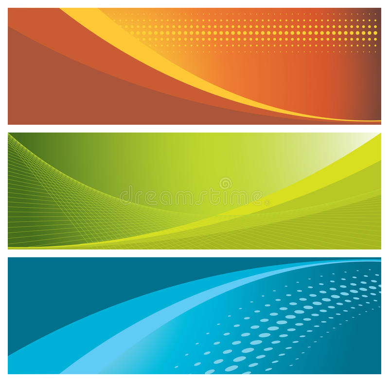 Download Colorful banners (headers) stock vector. Illustration of waves - 9822491