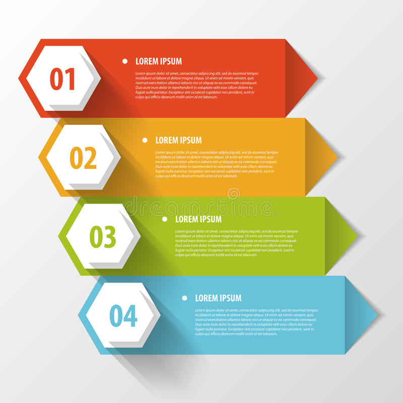 Colorful banners template for step presentation stock illustration