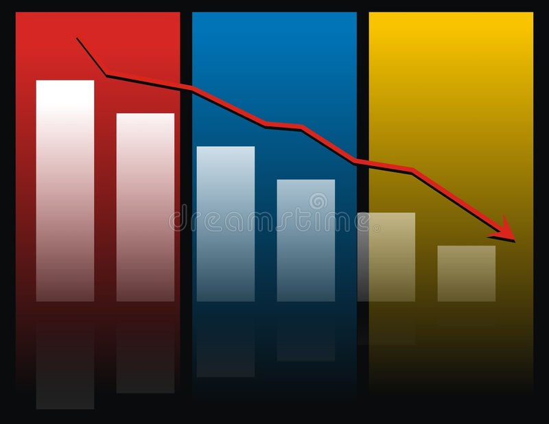 Colorful bar chart royalty free illustration