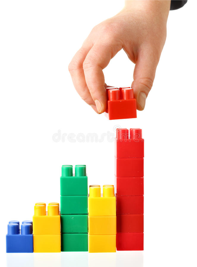 Colorful barchart royalty free stock photo