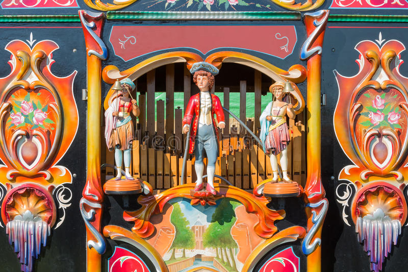 Colorful barrel organ or street organ royalty free stock images
