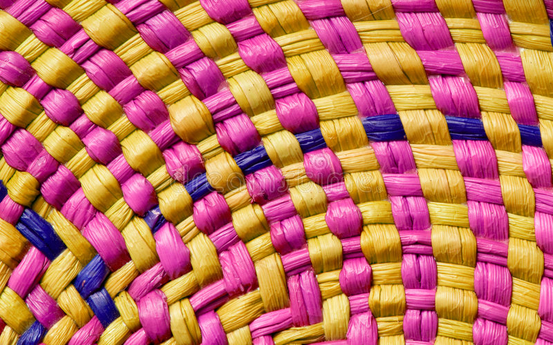 Colorful basket texture royalty free stock photography
