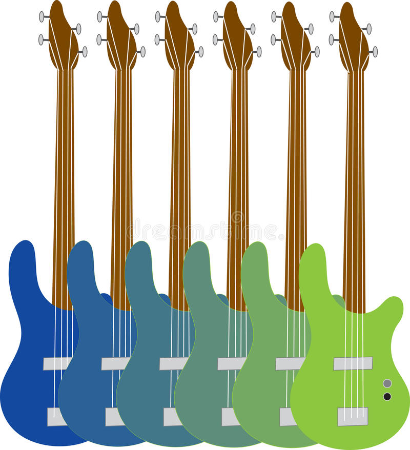 Download Colorful Bass Guitars Stock Photo - Image: 23176470