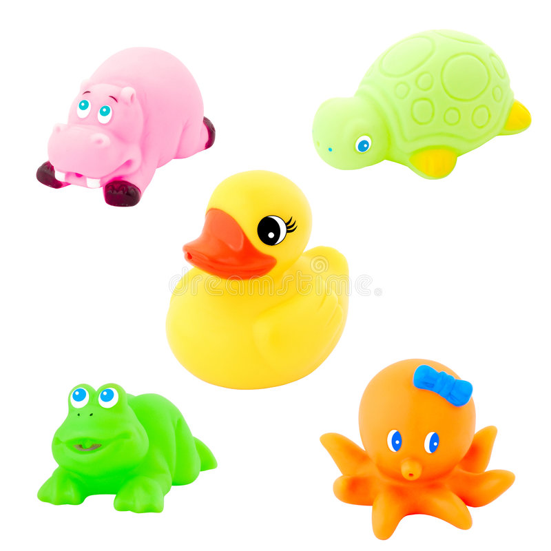 Colorful bath toy royalty free stock images