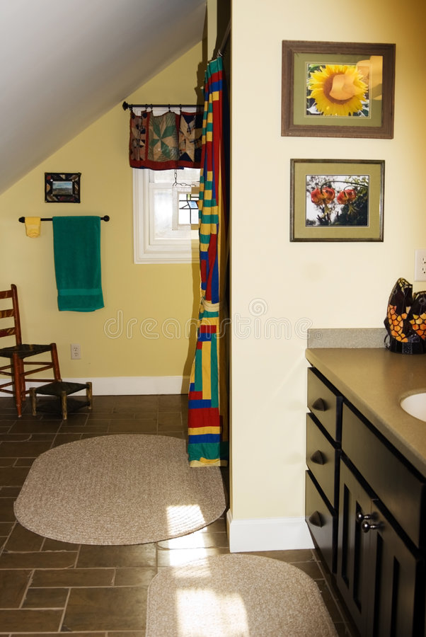 Colorful Bathroom royalty free stock photo