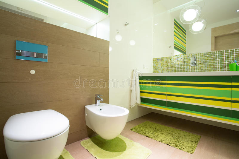 Colorful bathroom stock photography