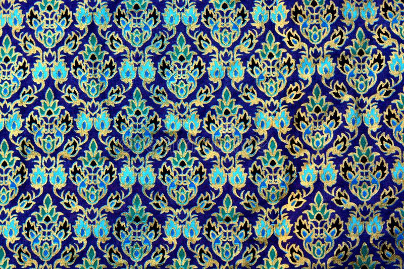 Colorful batik cloth fabric background. Close up Colorful batik cloth fabric background royalty free stock images