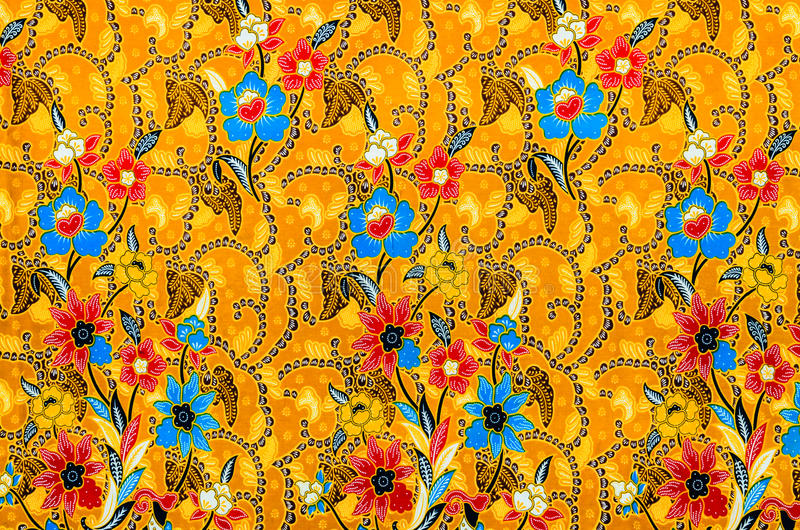 Colorful batik cloth fabric. Background of thai style royalty free stock photo