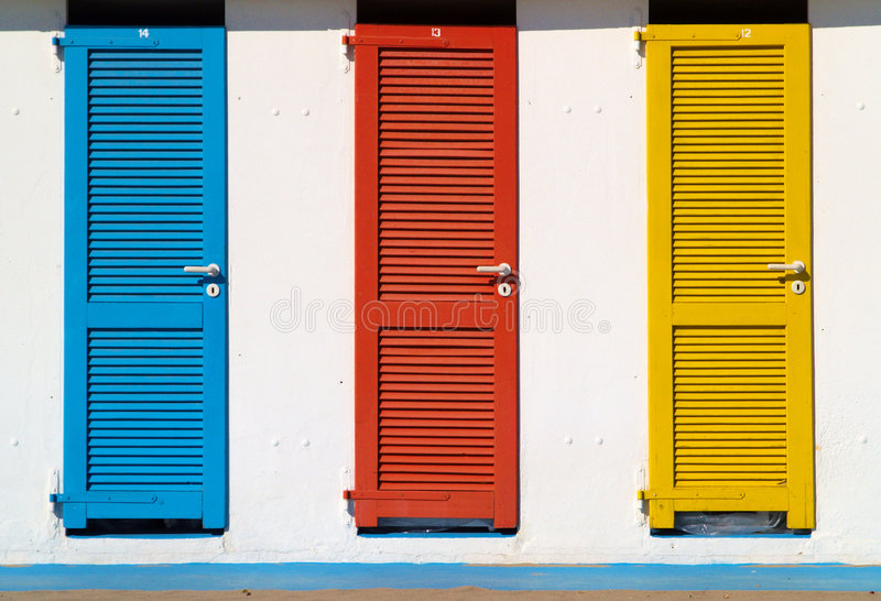 Download Colorful beach huts stock image. Image of beach, blue - 8303419