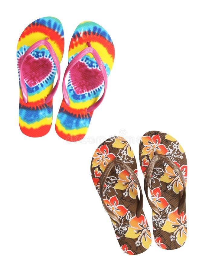 Colorful Beach Thongs stock photo