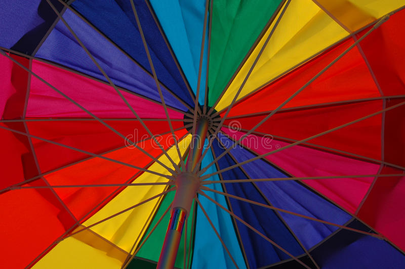 Download Colorful Beach Umbrella stock photo. Image of protection - 14820642