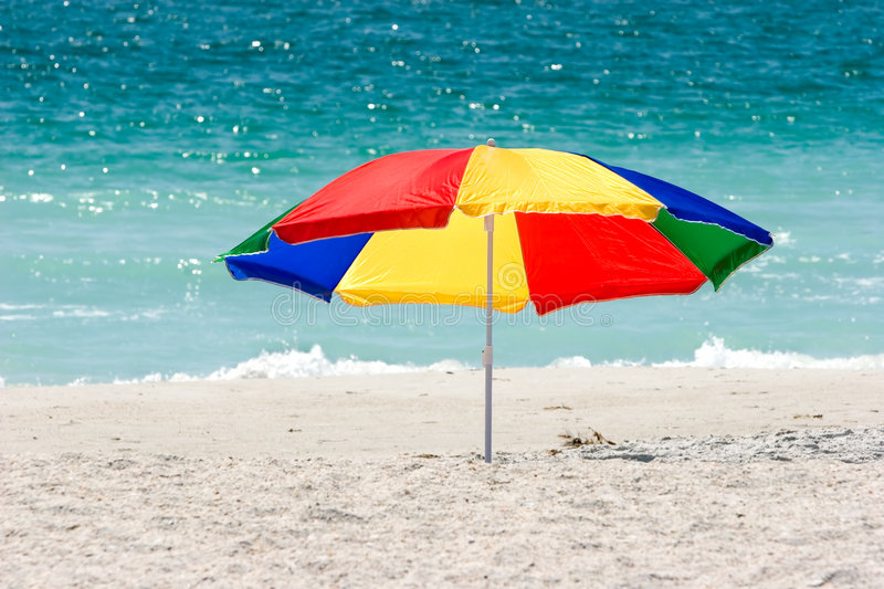 Download Colorful Beach Umbrella stock image. Image of secluded - 2236119