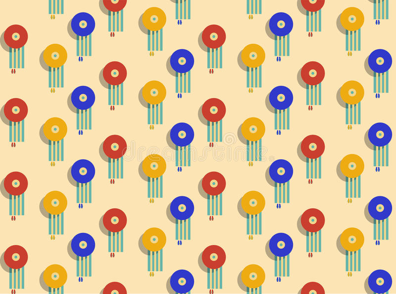 Colorful beach umbrella. Seamless pattern. royalty free illustration