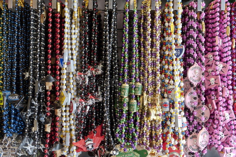 Colorful Bead Necklaces Royalty Free Stock Photography