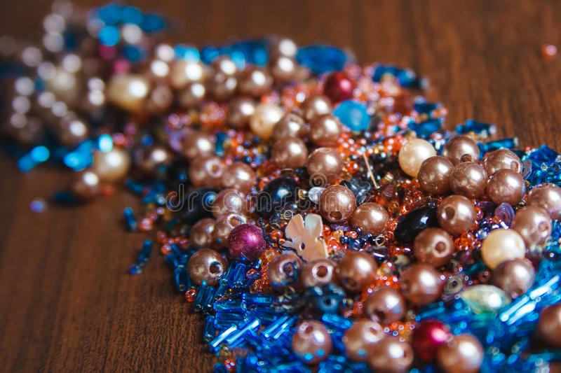 Colorful bead stock images