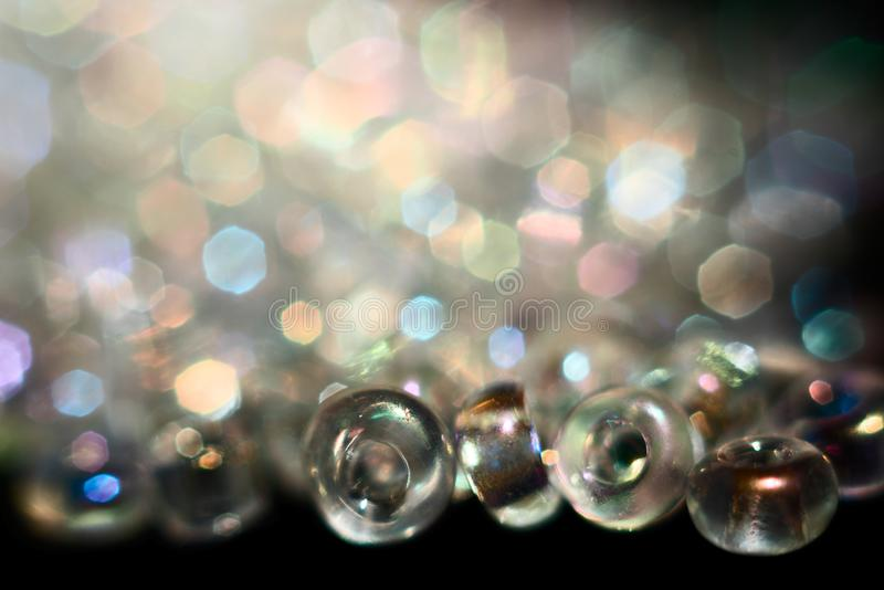 Colorful beads with bokeh royalty free stock photo