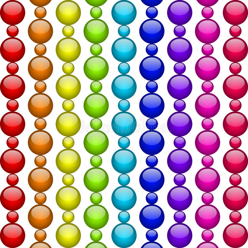 Colorful beads vector illustration
