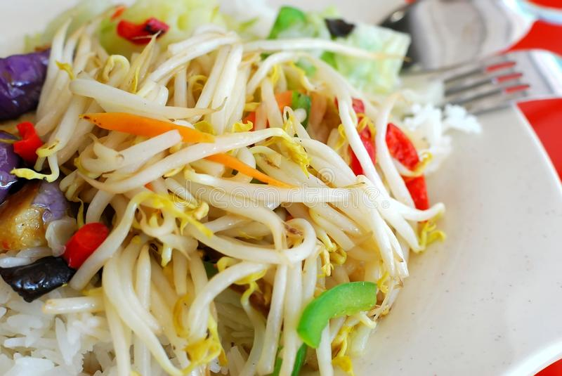 Download Colorful Bean Sprouts With Rice Stock Photo - Image: 14650636