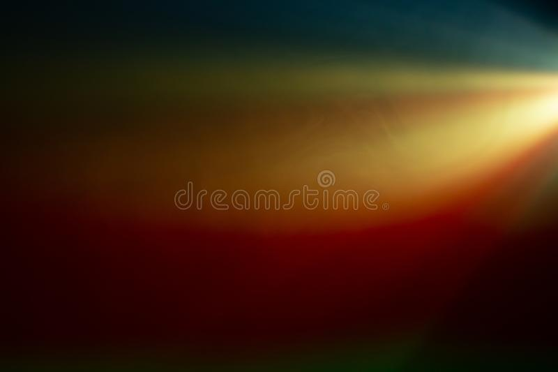 Colorful beautiful spotlight . wide lens projector with light beam for movie and cinema . texture abstract smoke background . Colorful beautiful spotlight stock photography