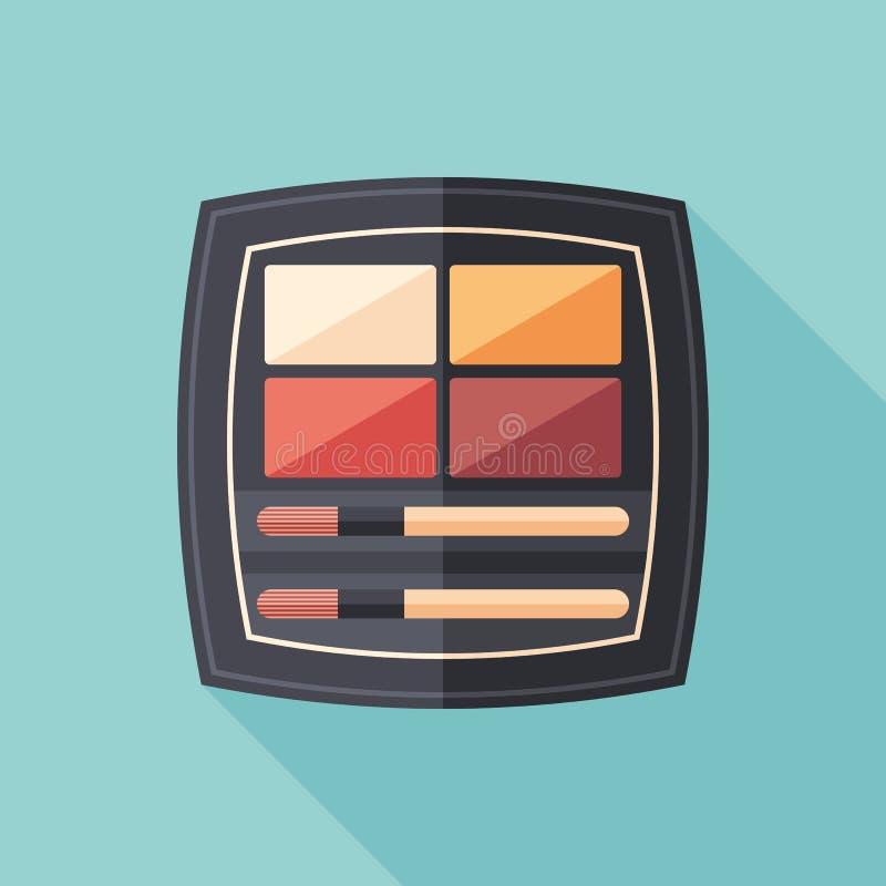Palette liquid lipsticks flat square icon with long shadows. royalty free illustration