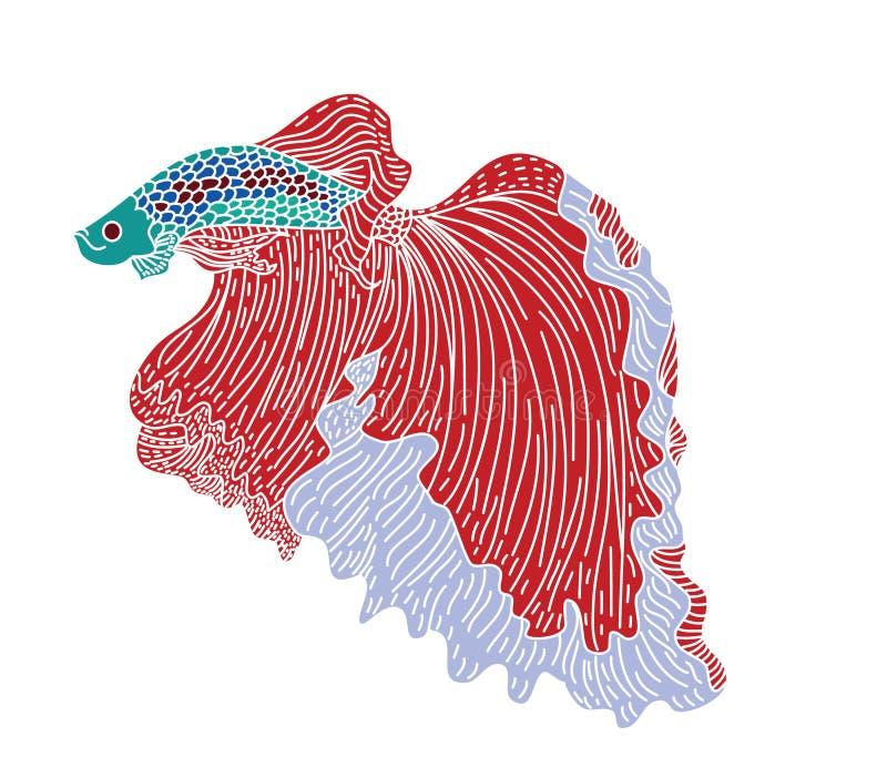 Colorful Betta fish vector.beautiful Fighting fish. vector illustration