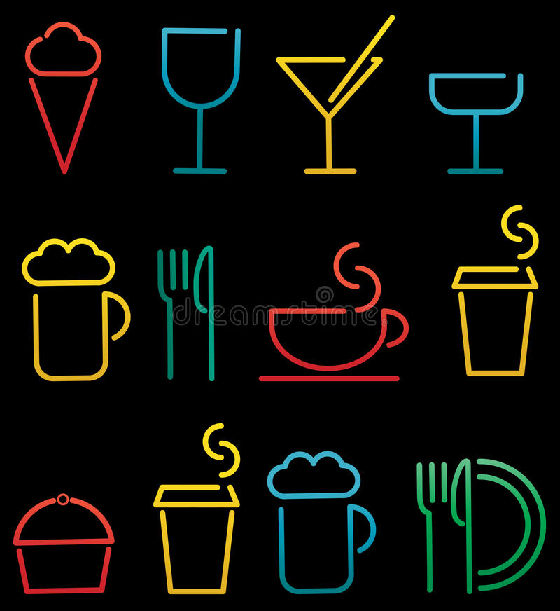 Download Colorful Beverage And Food Set Royalty Free Stock Photography - Image: 23946477