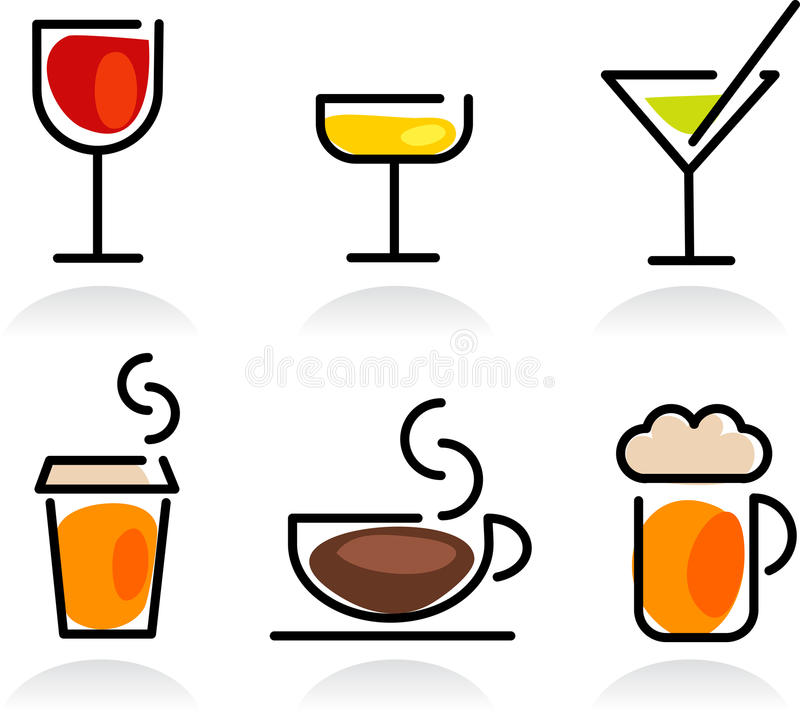 Download Colorful Beverage Icon Set Stock Images - Image: 23948974