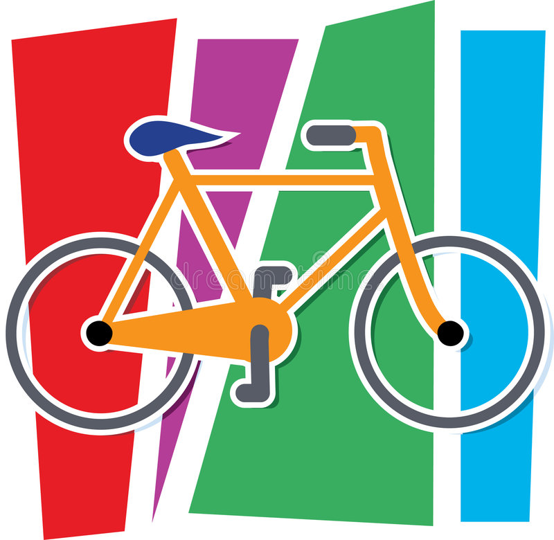 Colorful Bicycle. Stylized Bicycle on a multi colored background royalty free illustration