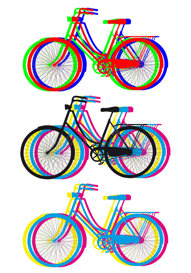 Download Colorful Bicycle Silhouettes, Vector Set Stock Vector - Image: 34292708