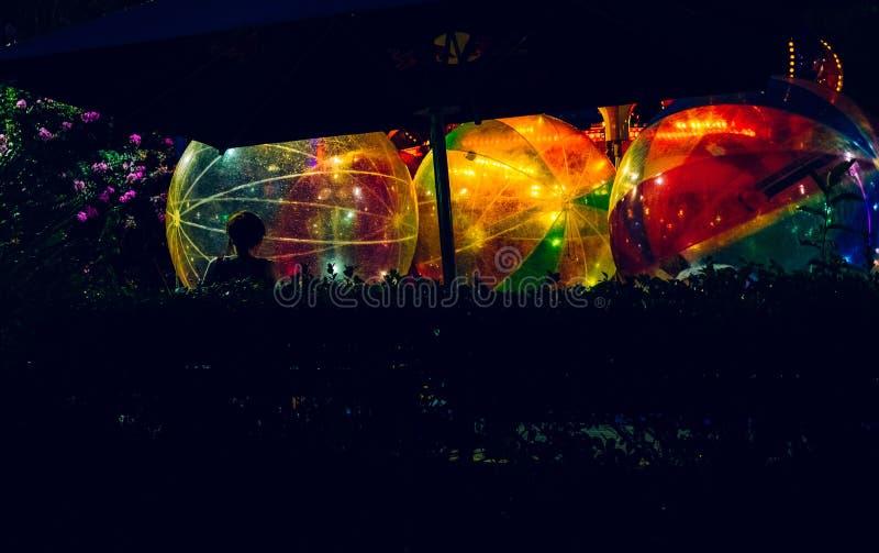 Colorful big balls filled with lights vector illustration