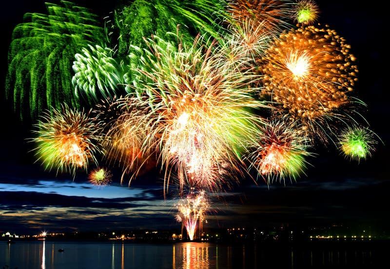 Colorful big firework stock photography
