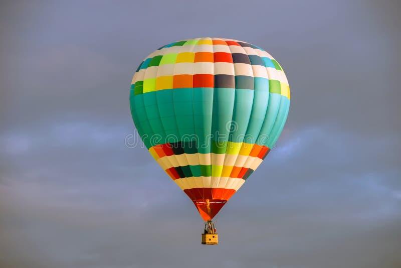 Balloon aeronautics in the sunset royalty free stock images