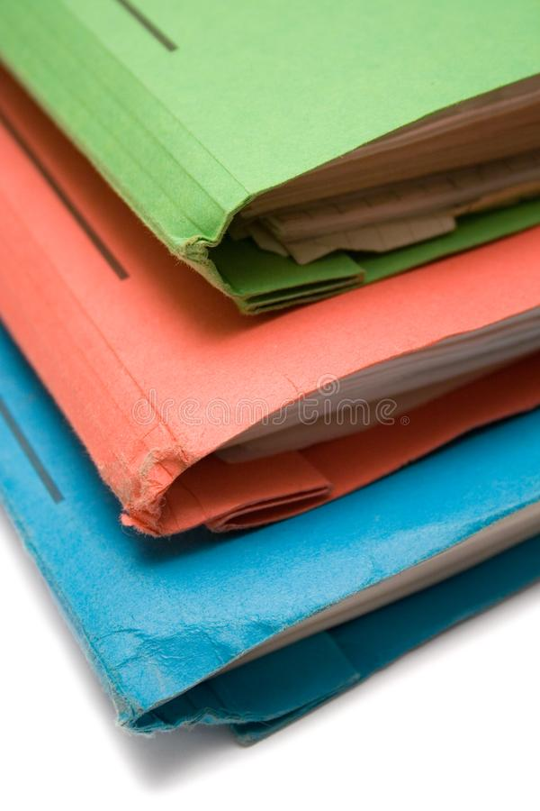 Colorful Binders (Top View Close) stock image