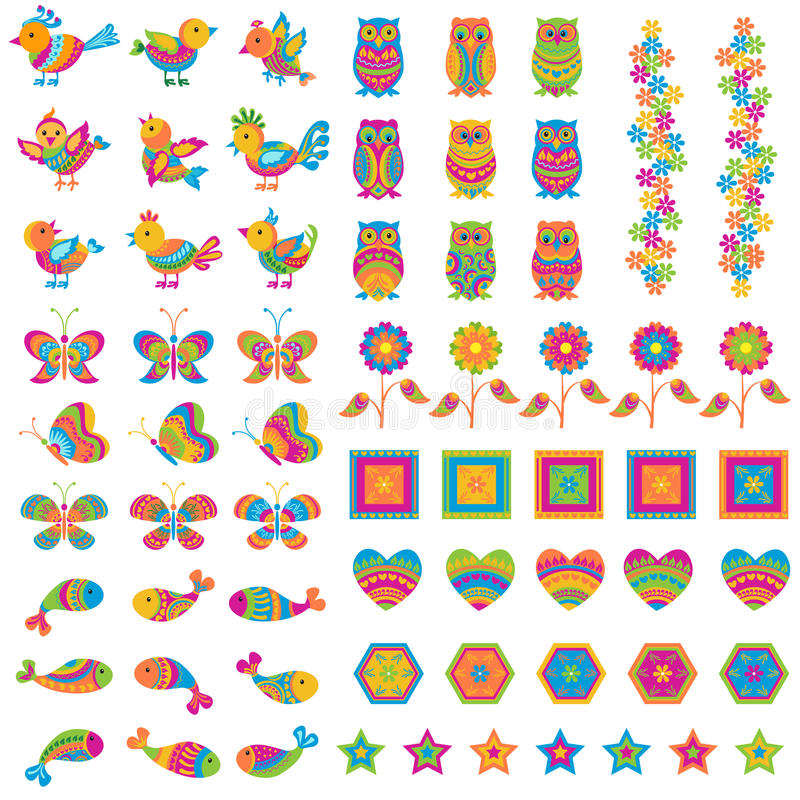 Download Colorful Bird And Butterfly Stock Vector - Image: 29519692