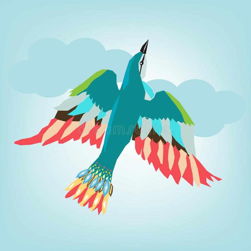 Download Colorful Bird Flying Royalty Free Stock Photos - Image: 21177618