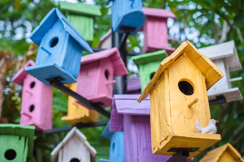Colorful Bird Houses royalty free stock images