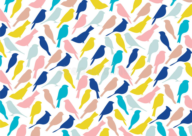 Colorful birds pattern stock photos