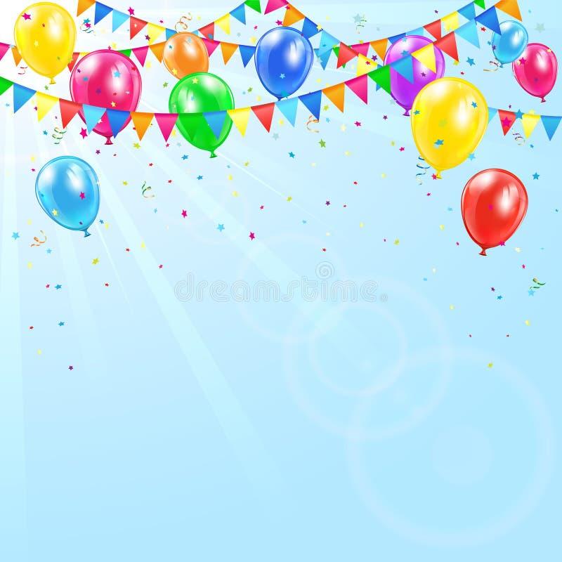Download Colorful birthday balloons stock vector. Illustration of illuminated - 42071526