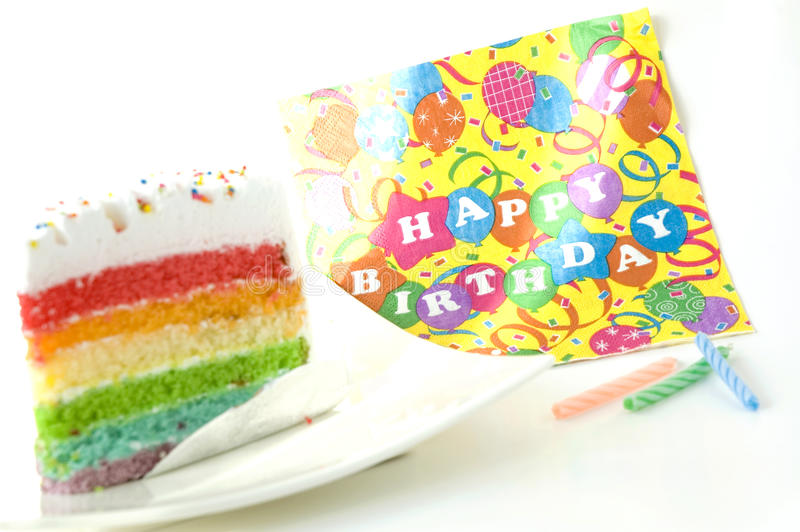 Colorful birthday cake royalty free stock photo